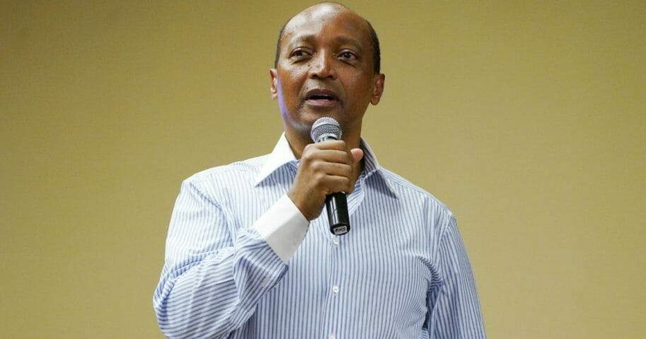 Patrice Motsepe speaks before a panel discussion at Sandton Convention Center on Nov. 30, 2018, in Johannesburg, South Africa.