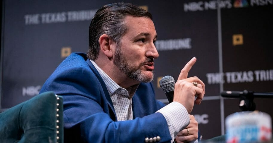 Republican Sen. Ted Cruz of Texas answers a question from MSNBC's Chris Hayes during a panel at The Texas Tribune Festival on Sept. 28, 2019, in Austin, Texas.
