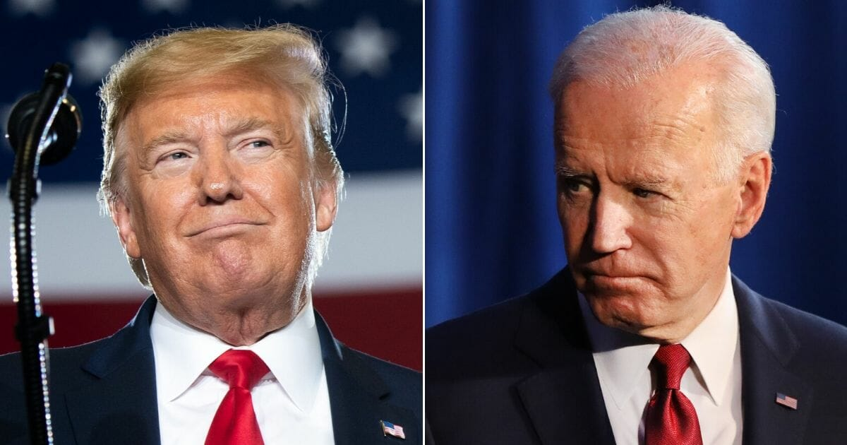 President Donald Trump, left, and Democratic presidential candidate and former Vice President Joe Biden, right.