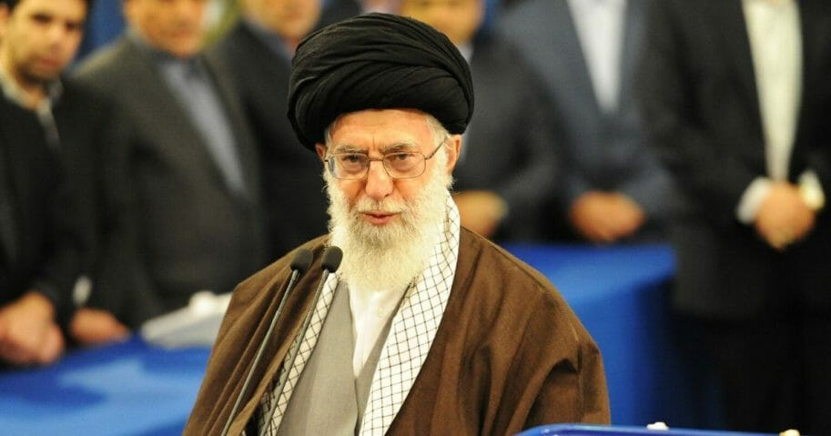 Iran's Supreme Leader Ayatollah Seyyed Ali Khamenei is pictured in a file photo from February 2016.