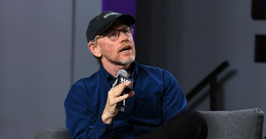 Movie director Ron Howard pictured in a file photo speaking on stage at an event in Canada in September.