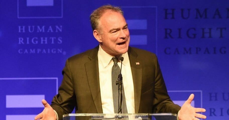 Virginia Sen. Tim Kaine is pictured at The Human Rights Campaign 2017 Los Angeles Gala Dinner at JW Marriott Los Angeles.
