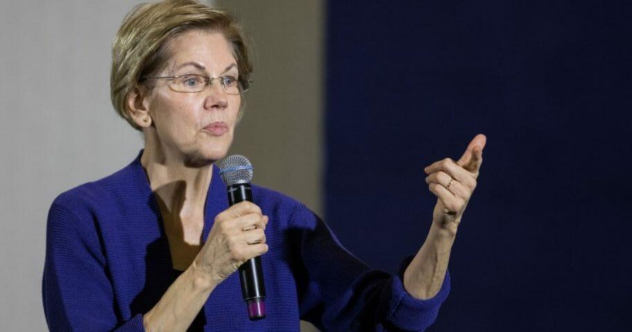 Massachusetts Sen. Elizabeth Warren makes a campaign stop Thursday in New Hampshire.