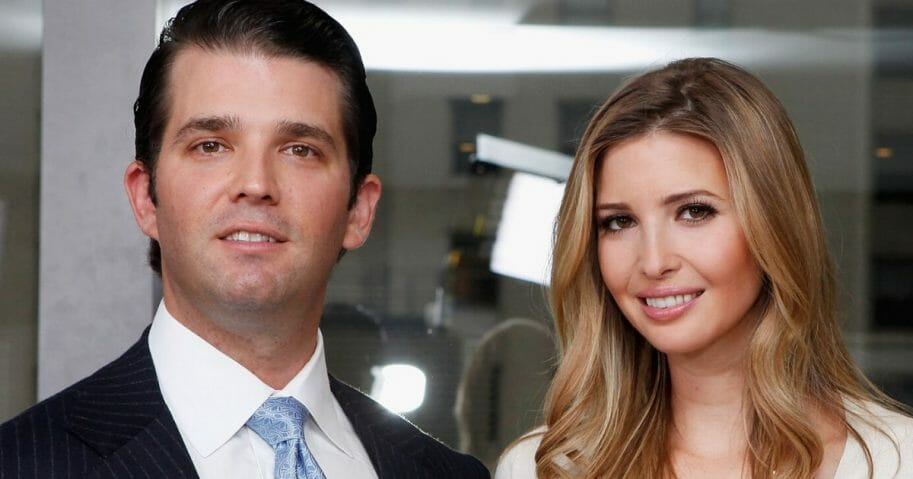 Donald Jr. and Ivanka Trump are pictured in a 2012