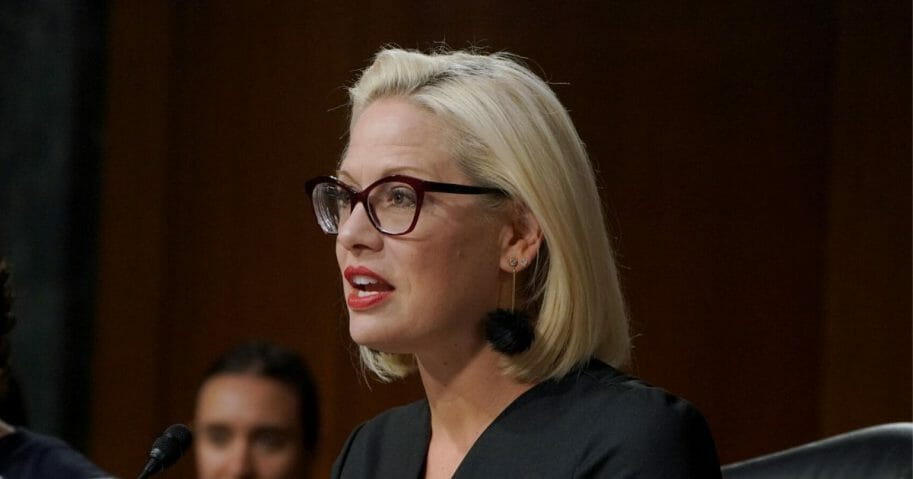 Democratic Senator Kyrsten Sinema of Arizona speaks at the at the hearing on Type 1 Diabetes at the Dirksen Senate Office Building on July 10, 2019, in Washington, D.C.