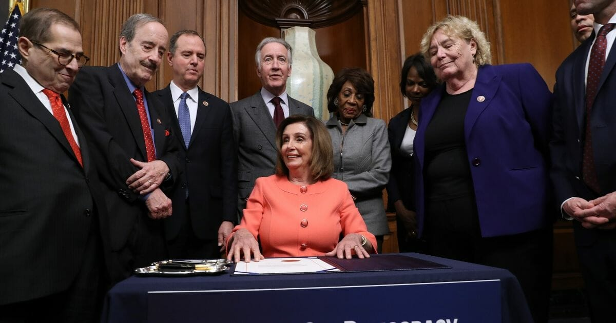 Pelosi's Impeachment-Pens Stunt Disgraces Dems and Makes Her 'Somber' Claims Laughable