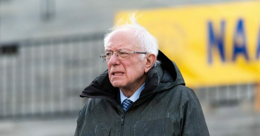 Democratic presidential candidate Sen. Bernie Sanders of Vermont looks into the crowd during the King Day at the Dome rally on Jan. 20, 2020, in Columbia, South Carolina.