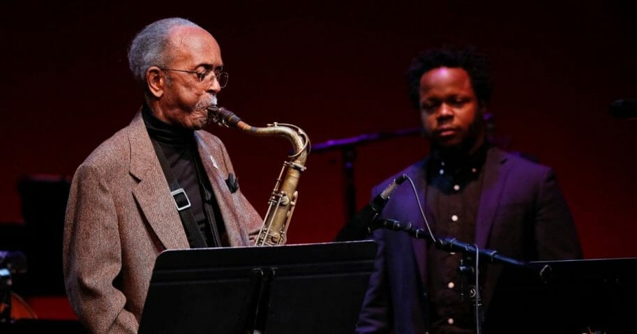Jazz musician Jimmy Heath performs during the 2018 Thelonious Monk Institute Of Jazz International Piano Competition at the Kennedy Center Eisenhower Theater on Dec. 3, 2018, in Washington, D.C.