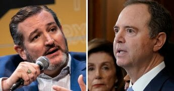 Texas Sen. Ted Cruz, left; and House Intelligence Committee Chairman Adam Schiff, right.