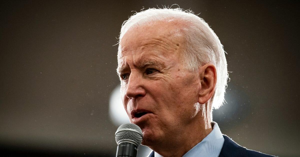 Former Vice President Joe Biden speaks during an event on Jan. 21, 2020, in Ames, Iowa.