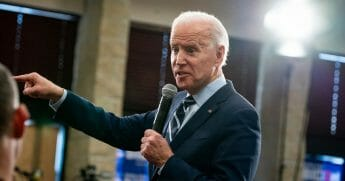 Former Vice President Joe Biden speaks during a Jan. 21 campaign event in Ames, Iowa.