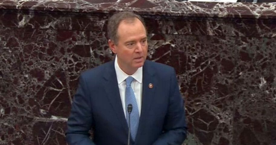 U.S. Rep. Adam Schiff, the lead manager of the Democratic impeachment effort, speaks in the Senate last week.
