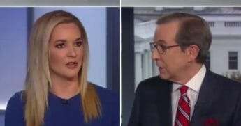 Political commentators Katie Pavlich, left, and Chris Wallace engage in a heated back-and-forth on Fox News.