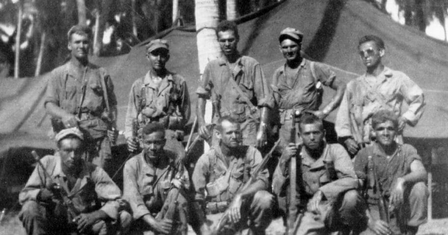 The Alamo Scouts after the raid at Cabanatuan in 1945.