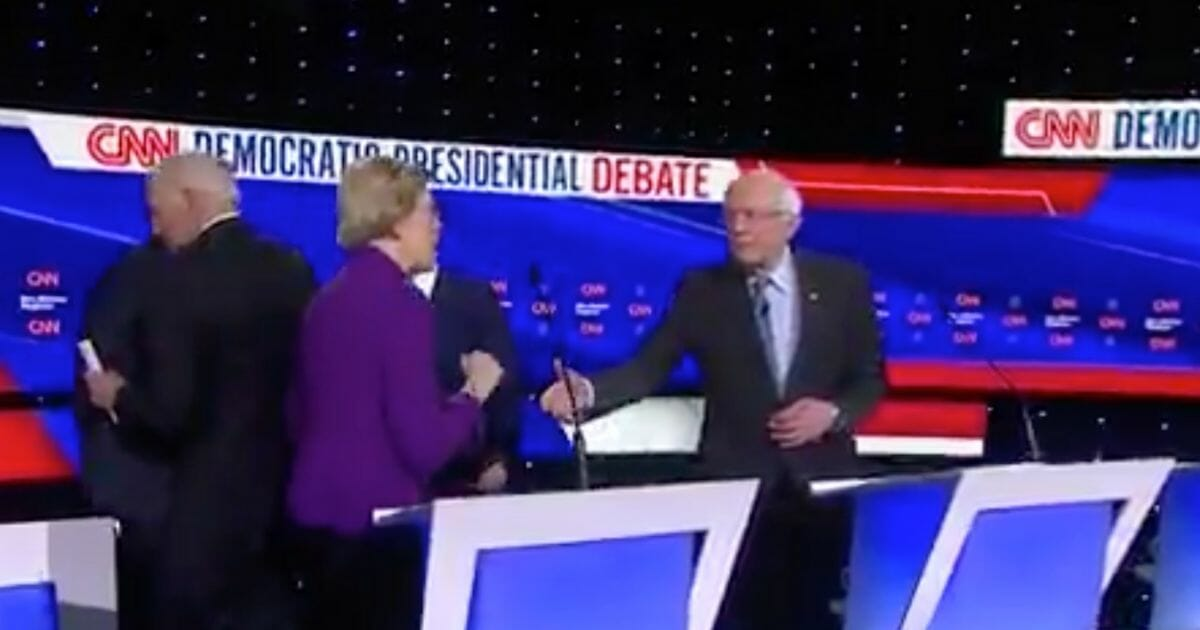 Altercation Between Sanders and Warren Breaks Out Moments After Debate Ends