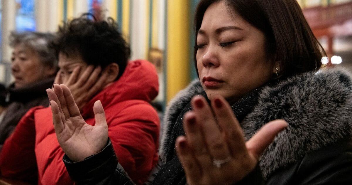 Christmas eve mass at the Xishiku Cathedral