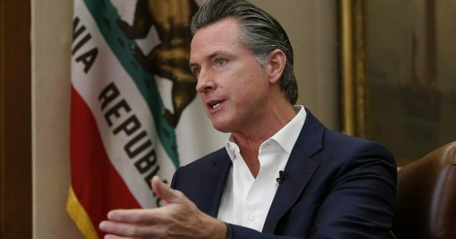 California Gov. Gavin Newsom speaks during an interview Oct. 8, 2019, in Sacramento.