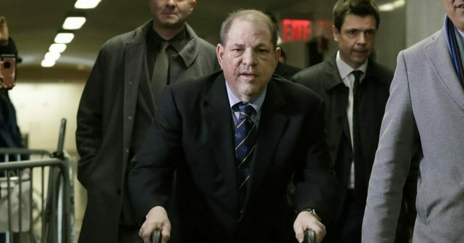 Harvey Weinstein arrives for his trial