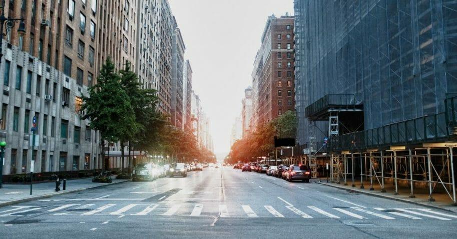 empty ny street