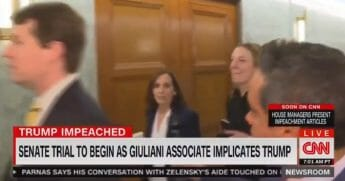 Sen. Martha McSally deals with a CNN reporter in a U.S. Senate -- without breaking stride.
