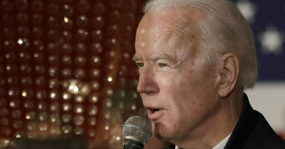 Democratic presidential candidate and former Vice President Joe Biden speaks at a campaign event Feb. 5, 2020, in Somersworth, New Hampshire.