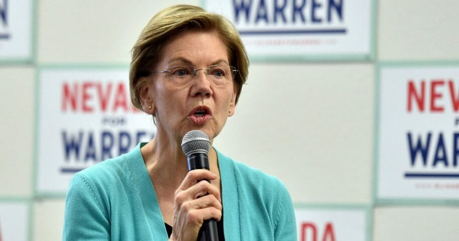 Democratic presidential candidate Sen. Elizabeth Warren (D-Massachusetts) speaks at a canvass kickoff event at one of her campaign offices on Feb. 20, 2020, in North Las Vegas, Nevada.