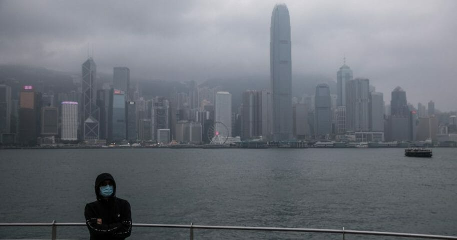 Hong Kong's city skyline