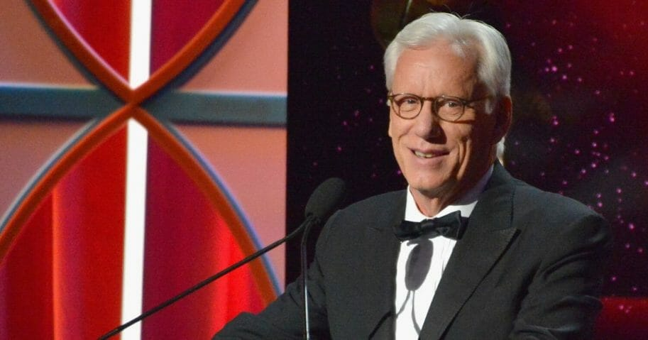 Actor James Woods speaks onstage during the 2017 Writers Guild Awards L.A. Ceremony at The Beverly Hilton Hotel on Feb. 19, 2017, in Beverly Hills, California.