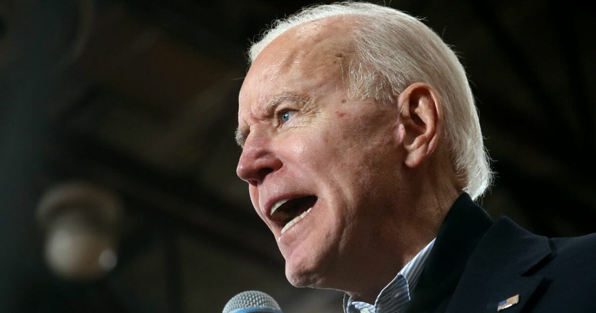 Democratic presidential candidate and former Vice President Joe Biden speaks during a campaign event in Hudson, New Hampshire, on Feb. 9, 2020.