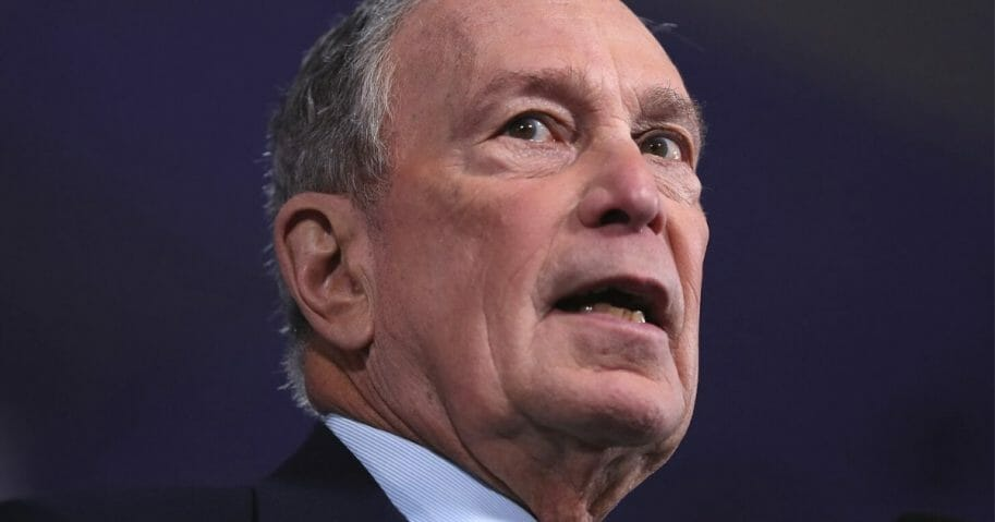 Democratic presidential candidate and former New York Mayor Mike Bloomberg campaigns in Aventura, Florida, on Jan. 26, 2020.