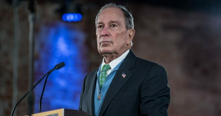 Democratic presidential candidate former New York City Mayor Mike Bloomberg announces his new Latino policy at a campaign rally on Jan. 29, 2020, in El Paso, Texas.