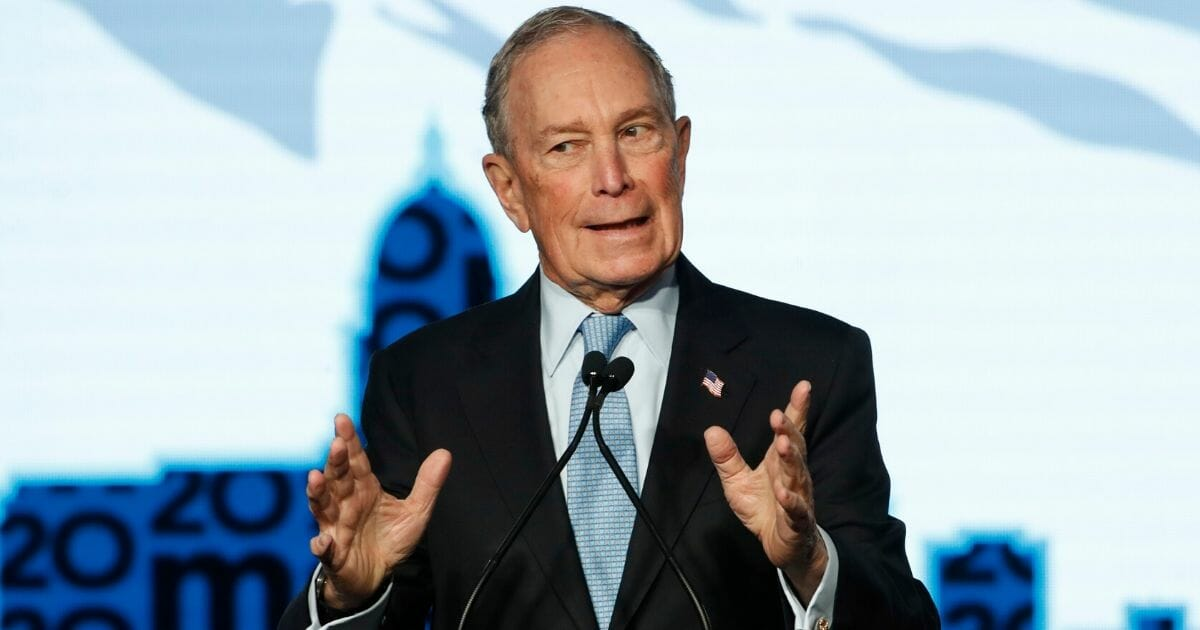 Democratic presidential candidate and former New York Mayor Mike Bloomberg speaks at a rally in Salt Lake City on Feb. 20, 2020.