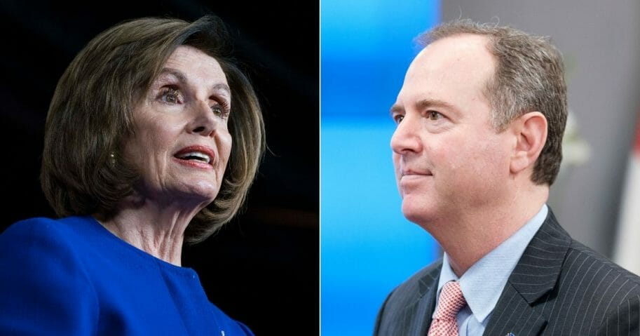 House Speaker Nancy Pelosi, left, and House Intelligence Committee Chairman Rep. Adam Schiff successfully impeached President Donald Trump, but failed to remove him from office.