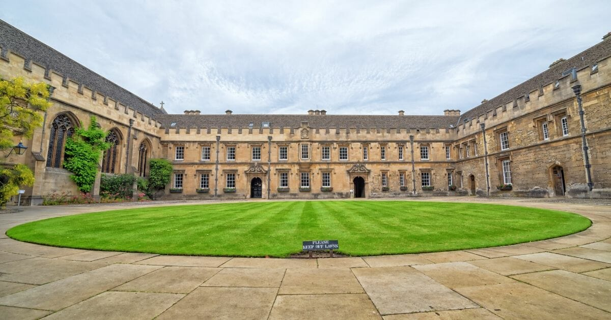 St. John's College at the University of Oxford in England.