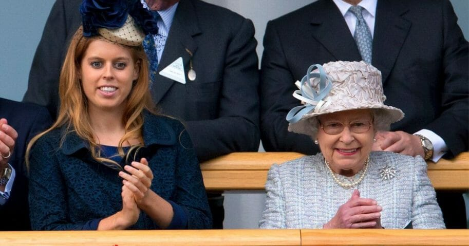 Her Majesty and Princess Beatrice in 2012 at the Ascot Racecourse. The Queen has reportedly offered the use of Buckingham Palace for Princess Beatrice's upcoming nuptials.