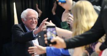 Democratic presidential front-runner Sen. Bernie Sanders