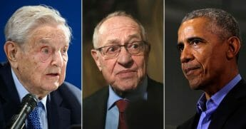 George Soros, Alan Dershowitz and Barack Obama.