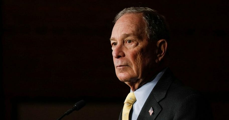 Democratic presidential candidate Mike Bloomberg, the former mayor of New York City, holds a campaign rally on Feb. 4, 2020, in Detroit.
