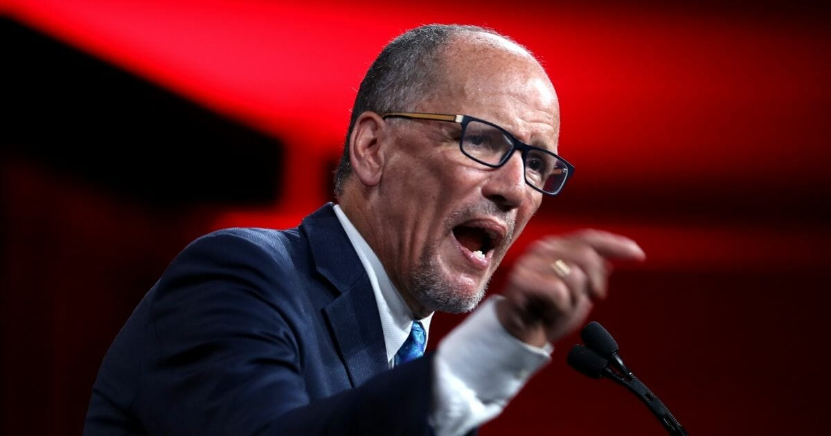 Democratic National Committee Chair Tom Perez speaks during the DNC summer meeting on Aug. 23, 2019, in San Francisco.