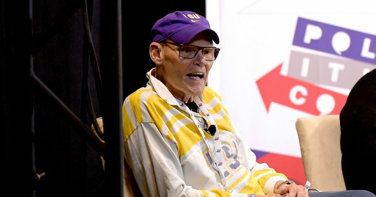 Democratic strategist James Carville speaks onstage during Politicon 2019 at the Music City Center on Oct. 27, 2019 in Nashville, Tennessee.