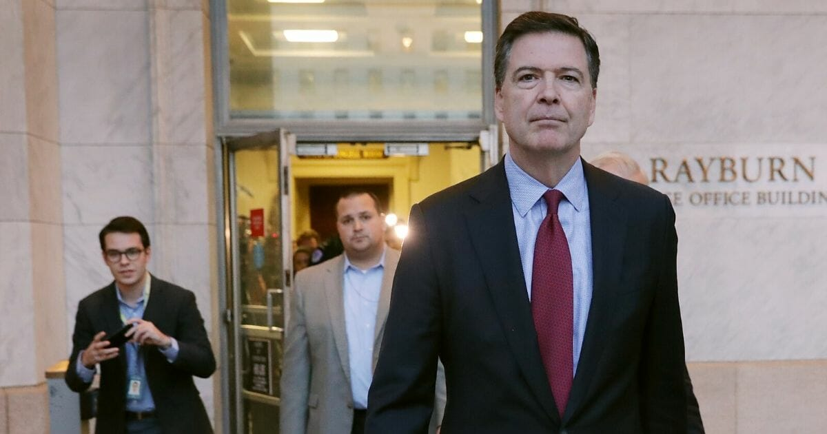Former Federal Bureau of Investigation Director James Comey is pictured in a file photo from January 2019.