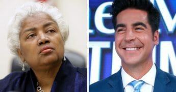 Former Democratic National Committee Chairwoman Donna Brazile, left; and Fox News' Jesse Watters, right.