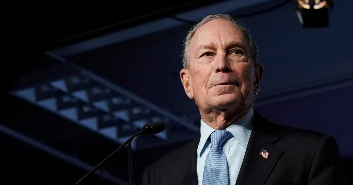 Democratic presidential candidate former New York City Mayor Michael Bloomberg speaks to supporters at a rally on Feb. 20, 2020, in Salt Lake City.