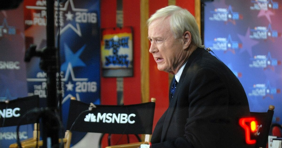 MSNBC anchor Chris Matthews, pictured in a March 2016 file photo.