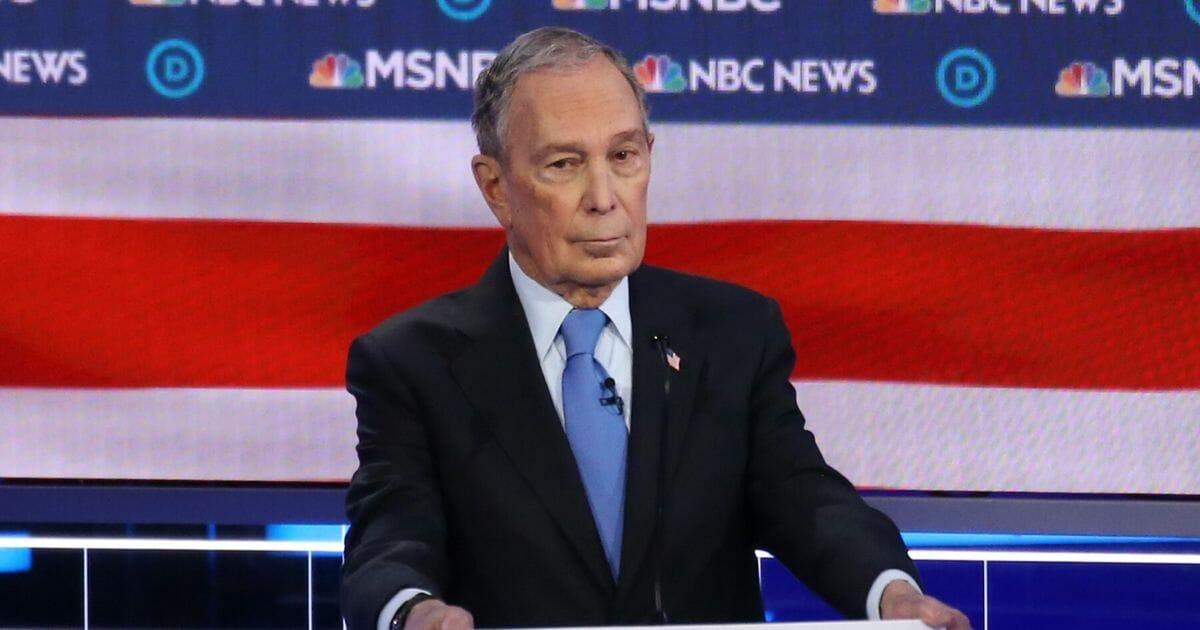 Democratic presidential candidate former New York City Mayor Michael Bloomberg participates in the Democratic presidential primary debate at Paris Las Vegas on Feb. 19, 2020, in Las Vegas.