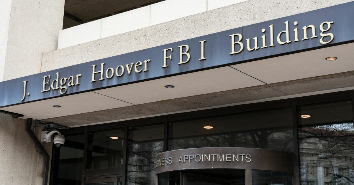 Stock image of the FBI's J. Edgar Hoover Building in Washington, D.C.