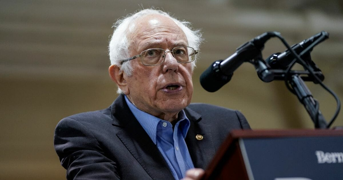 Democratic presidential candidate Sen. Bernie Sanders of Vermont speaks during a campaign rally at the Charleston Area Convention Center on Feb. 26, 2020, in North Charleston, South Carolina.