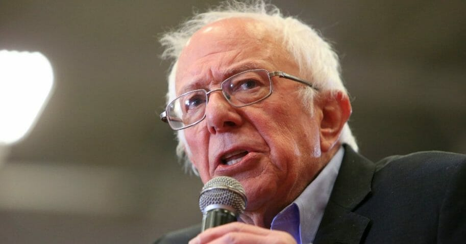 Democratic presidential candidate Sen. Bernie Sanders of Vermont speaks to supporters during a rally and march to early vote on Feb. 27, 2020, at Winston-Salem State University in Winston-Salem, North Carolina.