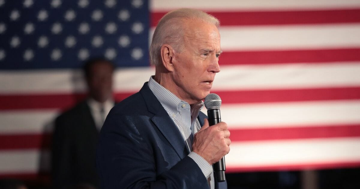 Democratic presidential candidate former Vice President Joe Biden speaks to guests during a campaign stop at the Winyah Indigo Society Hall on Feb. 26, 2020, in Georgetown, South Carolina.