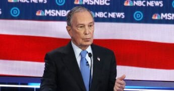 Democratic presidential candidate former New York City Mayor Michael Bloomberg speaks during the Democratic presidential primary debate at Paris Las Vegas on Feb. 19, 2020, in Las Vegas.
